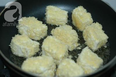 Đậu chiên trứng muối giản dị ngon cơm