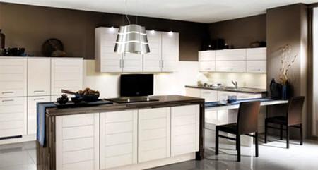 Gam màu trắng đen cho tủ bếp nhà bạn