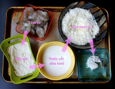 Lạ miệng tôm tẩm dừa nạo chiên vàng