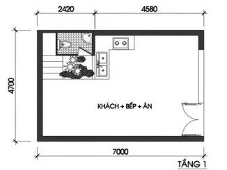 Thiết kế nhà 3 tầng trên đất 30 m2 11