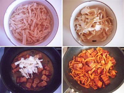 Thịt ba chỉ kho củ cải khô - món kho ngon tuyệt
