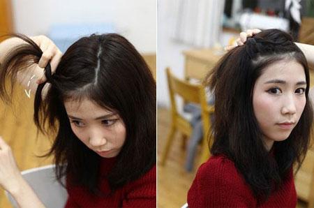 Tự búi tóc đỉnh đầu năng động