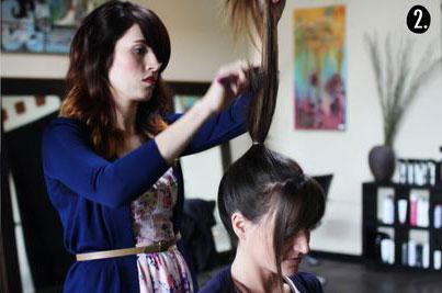Hướng dẫn tạo kiểu tóc búi rối cá tính