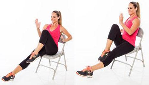 6 động tác thể dục với ghế