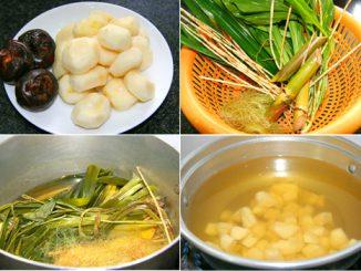 Mía lau nấu củ năng, hạt sen thơm mát 11