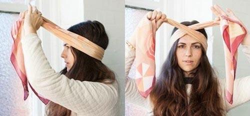 Cách dùng băng đô tạo kiểu cho tóc khi dạo chơi 20/10