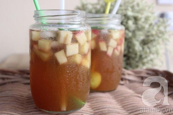 Đã khát ngày nóng với trà táo mật ong