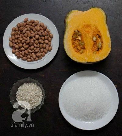 Cách nấu chè bí đỏ đậu phộng đãi gia đình ngày rảnh