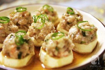 Nhẹ nhàng bữa trưa với món đậu hấp tôm thịt ngọt mát