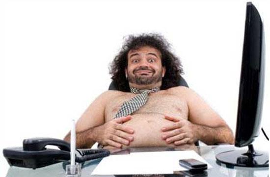 Những đối sách cho nam giới văn phòng béo phì