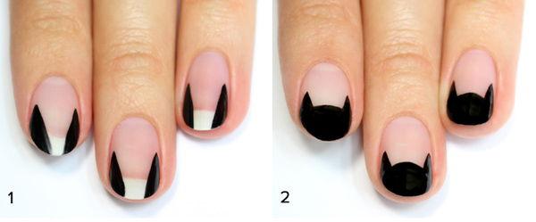Hướng dẫn bạn cách sơn móng tay mèo đen cực đáng yêu