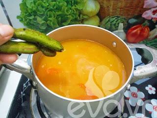 Hướng dẫn nấu canh ngao chua dọc mùng
